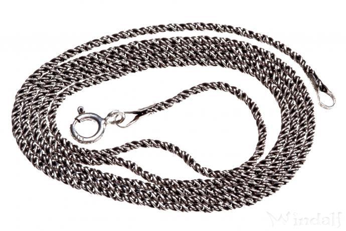 Mittelalter Halskette ~ NEMIA ~ 55 cm - Geschwärzte Silberkette - Antik Silber - Windalf.de