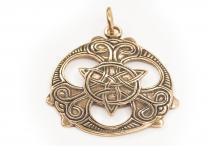 Schmuck Anhänger ~ BALDYRA ~ Triade mit keltischen Mustern - Bronze - Windalf.de