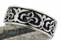 Mittelalter Ring ~ LUCIAN ~ Fleur de Lis - Ritter-Schmuck - Silber - Windalf.de