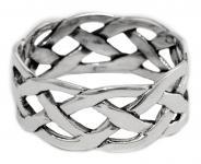 Celtic Ring ~ MANANNÁN ~ 10 mm - Keltisches Muster - Partnerring - Silber - Windalf.de