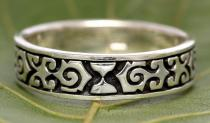 Ritter Ring ~ ALIAN ~ 6 mm - Mittelalter Ornamente - Antik Silber - Windalf.de