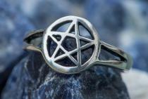 Ring ~ TORA ~ Kleines Pentagramm - Silber - Windalf.de