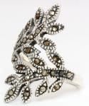 Ring ~ ALINA ~ 2.6 cm - Blätter des Lebensbaumes - Silber - Windalf.de
