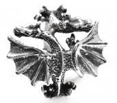 Ring ~ SKYLA ~ Drachenliebe - Drachen-Ring - Silber - Windalf.de
