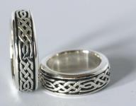 Keltischer Zwergen Drehring ~ DANOR ~ 7 mm - Herren-Ring - Antik Silber - Windalf.de
