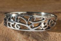 Damen Wunsch Ring ~ ANÎCIA ~ 5 mm - Zarte Spiralen - Silber - Windalf.de