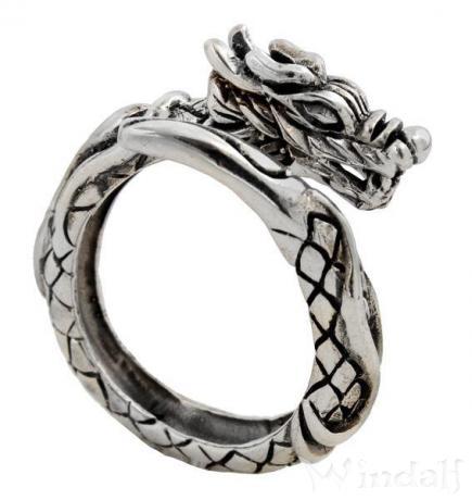 Wikinger Ring ~ BRAÍGH ~ Midgardschlange - Drachenring - Silber - Windalf.de