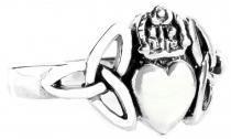 Irischer Celtic Ring  ~ CLADDAGH ~ 11 mm - Solvar Ring - Freundschaftsring - Silber - Windalf.de