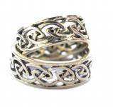 Keltischer Ring ~ MATIX ~ 7 mm - Celtic Knoten - Hochwertige Bronze - Windalf.de