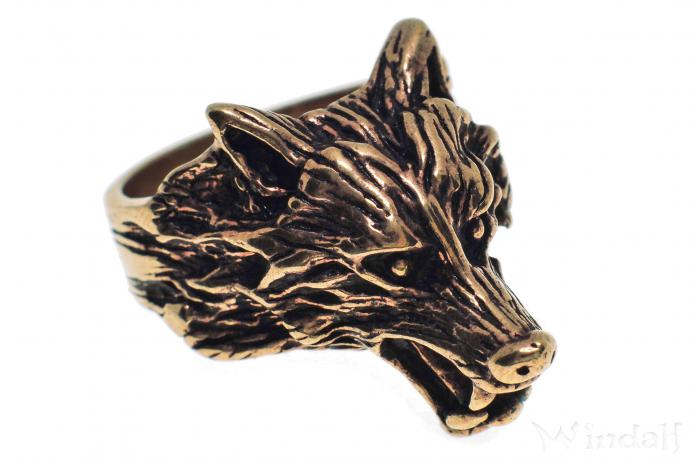 Ring ~ GERÎ ~ Odins Wolf - Wolfsring - Bronze - Windalf.de