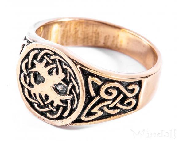 Siegelring ~ ASKA ~ Celtic - Keltischer Lebensbaum - Bronze - Windalf.de