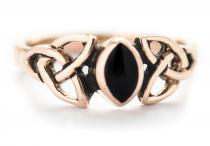 Keltischer Ring ~ ALEXA ~ Celtic Woman - Onyx - Bronze - Windalf.de