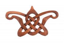 Wanddeko ~ BELTAINE ~ b: 38 cm - Keltischer Liebesknoten - Handarbeit aus Holz - Windalf.de