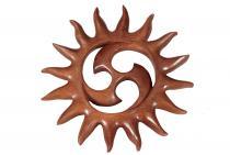 Wandbild ~ ALINA ~ Ø 21.5 cm - Kleine Sonnen-Triskele - Handarbeit aus Holz - Windalf.de
