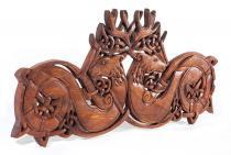 Celtic Wandbild ~ DVALIN ~ 55 cm - Keltische Hirsche - Wandrelief - Handarbeit aus Holz - Windalf.de