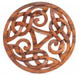 Wanddeko ~ ALESIA ~ 29 cm - Keltische Triskele - als Holzbild - Windalf.de