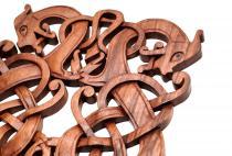 Asatru Wandbild ~ RORAN ~ h: 28 cm - Wikinger-Drachen - Handarbeit aus Holz - Windalf.de