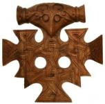 Wandbild ~ THORAN ~ Thorhammer - Rustikal - aus Holz - Windalf.de