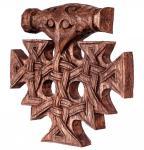Asatru Wandbild ~ THORAN ~ h: 22.5 cm - Vintage Thorshammer - Wikinger Deko - Handarbeit aus Holz - Windalf.de