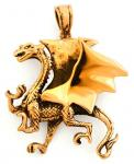 Drachen Anhänger ~ WYVEREX ~ Großer Drache - Bronze - Windalf.de
