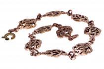 Celtic Armkette - LUCY ~ 20 cm -  Keltischer Knoten - Freundschafts Armband - Bronze - Windalf.de