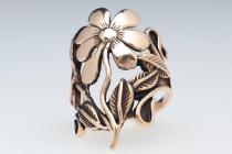 BlumenRing ~ CALINA ~ Wild Orchid - Bronze - Windalf.de