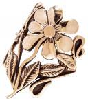 Bohmian Ring ~ CALINA ~ 30 mm - Wild Orchid Blumenring - Bronze - Windalf.de