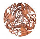Wandbild ~ ACAR ~ Drei keltische Drachen - 30 cm - aus Holz - Windalf.de