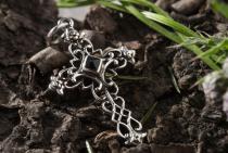 Anhänger ~ LUCAN ~ Gotisches Kreuz - Onyx - Silber - Windalf.de
