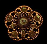 Brosche ~ ALIANA ~ Abalone Muschel - Bronze - Windalf.de