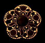 Mittelalter Brosche ~ ALIANA ~ Onyx - Bronze - Windalf.de