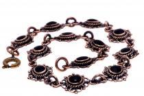Mittelalter Armkette ~ LANIÁ ~ Onyx - Bronze - Windalf.de