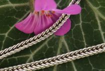 Dunkle Mittelalter Halskette ~ ALUSIA ~ l: 46 cm - Vintage Silber - Windalf.de