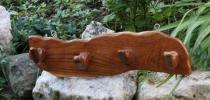 Garderobe ~ LUZY ~ 4 Haken - aus Holz - Windalf.de