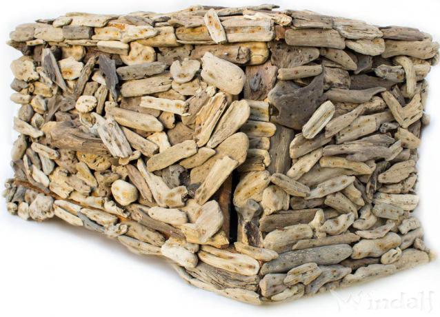 Holz Deko Truhe ~ ROOTA ~ H: 33 cm B: 65 cm - Mit Schublade - Handarbeit aus Treibholz - Windalf.de