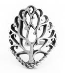 Baum Ring ~ MINA ~ h: 2.6 cm - Lebensbaum - Silber - Windalf.de