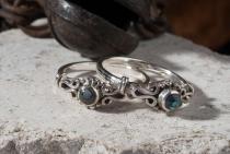 Zarter Mittelalter Ring ~ MINA ~ 0.6 cm - Pauamuschel - Silber - Windalf.de