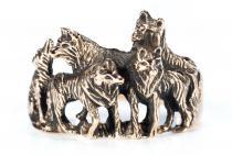 Ring ~ NYMERIA ~ Wolfsrudel ~ Schattenwölfe - Bronze - Windalf.de