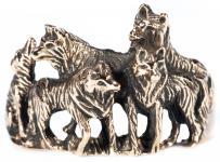 Ring ~ NYMERIA ~ 1.7 cm -  Wolfsrudel ~ Schattenwölfe - Bronze - Windalf.de