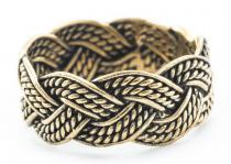 Wikinger Ring ~ THORN ~ Zopfmuster - Bronze - Windalf.de