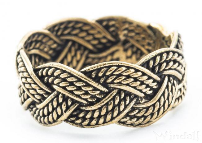 Wikinger Ring ~ THORN ~ Zopfmuster - Bronze - Windalf.de