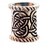 Bartschmuck ~ AJÂNI ~ h: 1.4 cm - Haarschmuck - Pagan - Keltischer Knoten - Bronze - Windalf.de