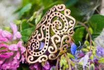 Langer Wikinger-Ring ~ DAINA ~ Viking Spirals - Bronze - Windalf.de