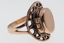 Vintage Ring ~ MORIGAN ~ h: 1.9 cm - Gothic Giftring - Hochwertige Bronze - Windalf.de