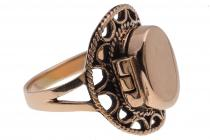 Vintage Ring ~ MORIGAN ~ 19 mm - Gothic Giftring - Hochwertige Bronze - Windalf.de