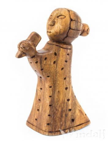 Holz Figur ~ FREYA ~ Germanische Göttin - Liebesgöttin - Windalf.de