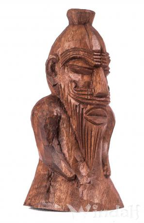 Holzfigur ~ FREYR ~ h: 15 cm - Germanischer Gott - aus Holz - Windalf.de