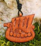 Anhänger ~ NORTHRI ~ Drachenschiff - Vikings - aus Holz - Windalf.de