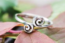 Zarter Ring ~ IDUNA ~ Spirals - Silber - Windalf.de