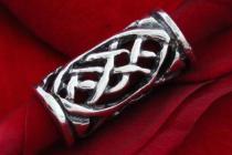 Pagan Bart- & Haarschmuck ~ ALANIA ~ 1.6 cm - Celtic Schmuck Perle - Silber - Windalf.de